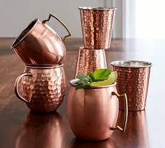 moscow mule mugs hammered copper moscow mule mug set of 2 pottery barn