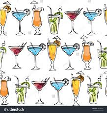 alcoholic drinks clipart cocktail drinks vector illustration pattern stock vector 147138293
