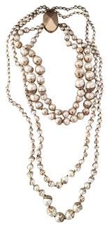 multi pearl necklace images Dior christian mise en multi strand pearl necklace tradesy jpg