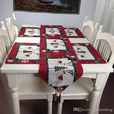 Christmas Dining Room Decorations - fashion red christmas reindeer elk table runners new year dining