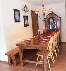 Farm Tables With Benches 15 Diy Farmhouse Table To Create Warm And Inviting Dining Area