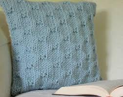 wedding gift knitting patterns knit cushion pillow etsy