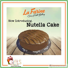 cake delivery 2 lbs nutella cake delivery in karachi from la farine bakery