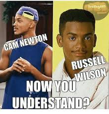 Russell Wilson Memes - trillog601 cam newton russell wilson now you understand cam