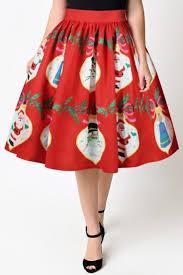 christmas skirt new collection 3d christmas santa claus pattern midi flared skirt