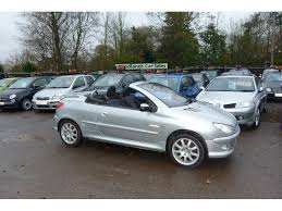 peugeot convertible used peugeot 206 cc convertible 1 6 16v quiksilver 2dr in hook