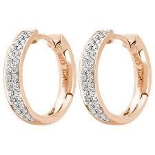 0 35ct f i1 shaped hoop earrings