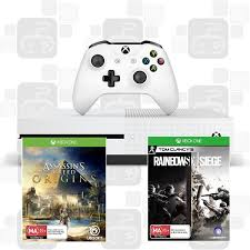 siege audio console xbox one console s 1tb with assassins creed origins and rainbow