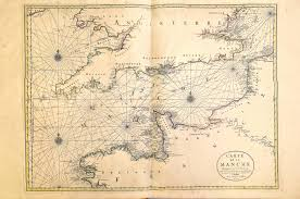 English Channel Map World Atlas By Huberjaillot A 1 72 1696 Sheets 3 101 U2013 L Brown