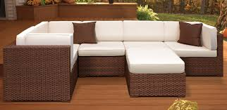 Wicker Table L 25 Awesome Modern Brown All Weather Outdoor Patio Sectionals