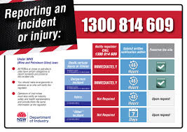 accident injury report form template report an incident or injury nsw resources and energy reporting an incident or injury 1300 814 609