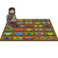 Large Kids Rugs by Amazon Com Large Classroom Rugs For Kids Abc Train Fun Area Rug