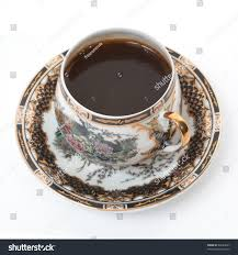 top view beautiful antique cup coffee stock photo 44644057