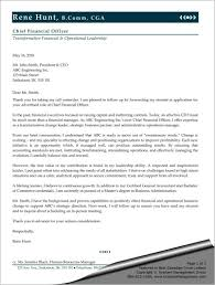 cover letters sle cover letter for chief financial officer graham