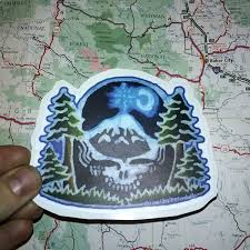 Steal Your Face Flag Grateful Dead Steal Your Face Pacific Northwest Sticker Vinyl