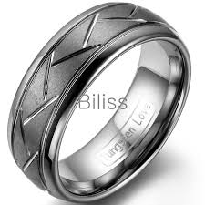 mens tungsten rings images 8mm top quality gray brushed finish tungsten ring diagonal grooves jpg