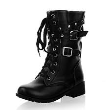 buy boots in nz s shoes nz low heel buckles lace up front ankle combat boots