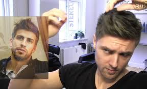 gerard piqué men u0027s hair tutorial football player hairstyle by