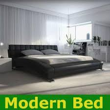 Leather Bed Frame Queen 2013 King Queen Twin Size Cool Modern Leather Bed Frame Bedroom