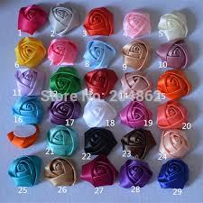 satin roses 50pcs assorted 5cm satin roses 2 satin rolled rosettes