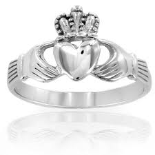 claddagh ring elya stainless steel claddagh ring silver free shipping on