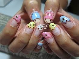 little twin stars nail design kawaii nails pinterest star