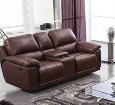 Leather Electric Reclining Sofa Electric Reclining Sofa Leather Www Energywarden Net