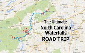 Map Of North Carolina Cities Ultimate North Carolina Waterfall Road Trip Map