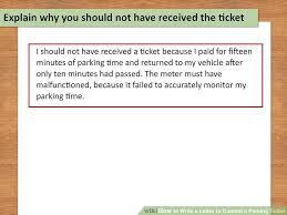 how to write a letter to contest a parking ticket 10 steps