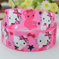 cheap ribbon for sale 7 8 22mm pink printed grosgrain ribbon hairbow diy handmade