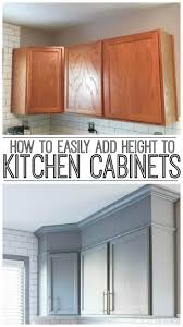 how to add molding to kitchen cabinets how to easily add height to your kitchen cabinets inspiration