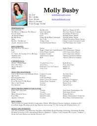 Acting Resume Template Download Singer Resume Template Cover Letter Singer Resume Template
