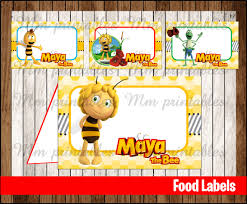 80 sale maya bee food tent cards instant download printable
