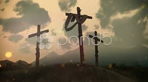 crucifixion cross on calvary hill stock footage 023441443
