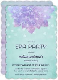 spa party invitations spa day invites