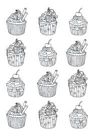 cupcakes easy celine cup cakes coloring pages for adults