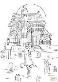 printable spooky house haunted house coloring pages spooky photo by jon seidman page free