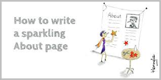 how to write a sparkling about page enchanting marketing
