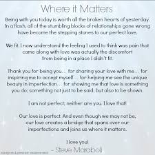 wedding quotes goodreads where it matters by steve maraboli quote http www