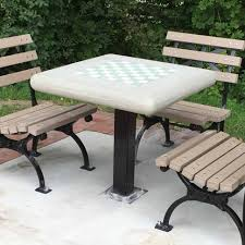Concrete Patio Tables And Benches Furniture Outdoor Chess Table Best Decoration Concrete Patio