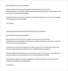 resignation letter sample in word simple resignation letter