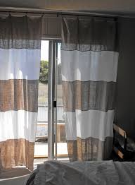 awesome linen grey and white curtains striped for front door