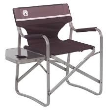 Tall Directors Chair With Side Table Coleman Portable Deck Chair With Side Table Black Target