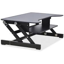 Hydraulic Desk Lorell Sit To Stand Monitor Riser Walmart Com