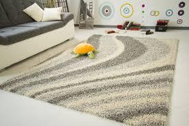 modern designer shaggy rug super thick soft pile non shedding mats