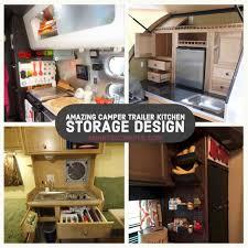 rv kitchen cabinet storage ideas 36 amazing cer trailer kitchen storage design you need to