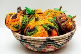 fabulous thanksgiving pumpkins made from vintage afghans diy