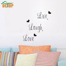 online get cheap wall stickers decals aliexpress com alibaba group dctop live laugh love family creative wall sticker decals decorative wall decor removable vinyl wall stickers