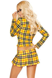clueless costume clueless school girl costume with crop top blazer and micro