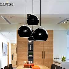 Hanging Lights For Dining Room Modern Black Led Pendant Lights For Coffee Shop Hemispherical